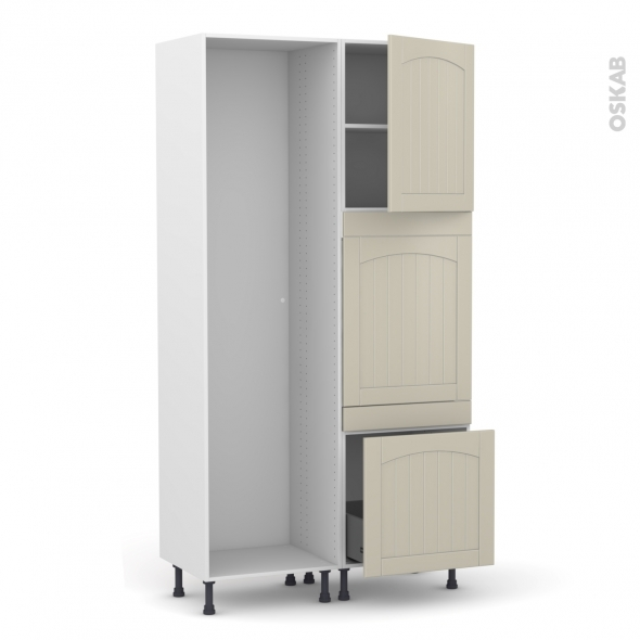 SILEN Argile - Colonne Lave vaisselle - Full Intégrable - L60xH217xP58 - droite