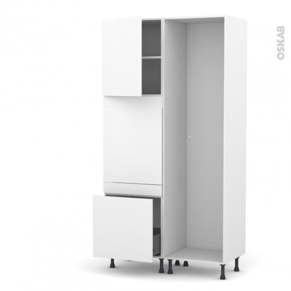 GINKO Blanc - Colonne Lave vaisselle - Full Intégrable - L60xH217xP58