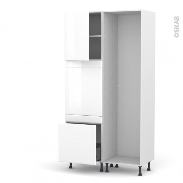IRIS Blanc - Colonne Lave vaisselle - Full Intégrable - L60xH217xP58