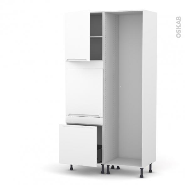 Colonne de cuisine - Lave vaisselle full intégrable - PIMA Blanc -  - L60 x H217 x P58 cm