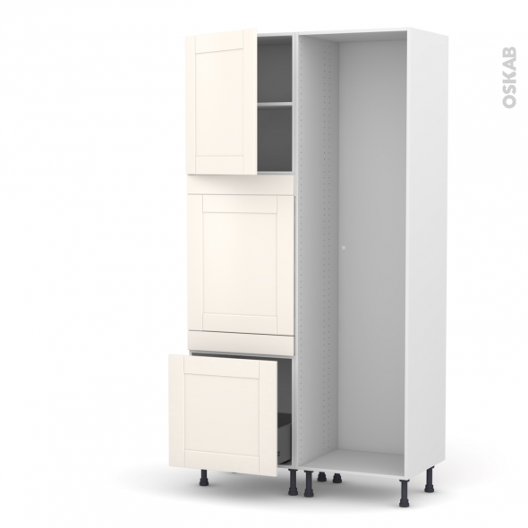 FILIPEN Ivoire - Colonne Lave vaisselle - Full Intégrable - L60xH217xP58