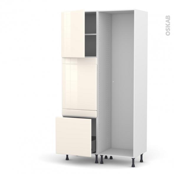IRIS Ivoire - Colonne Lave vaisselle - Full Intégrable - L60xH217xP58