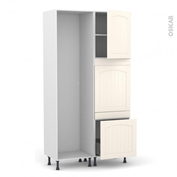 SILEN Ivoire - Colonne Lave vaisselle - Full Intégrable - L60xH217xP58 - droite