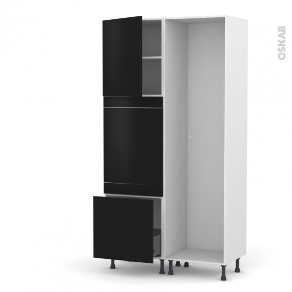 GINKO Noir - Colonne Lave vaisselle - Full Intégrable - L60xH217xP58