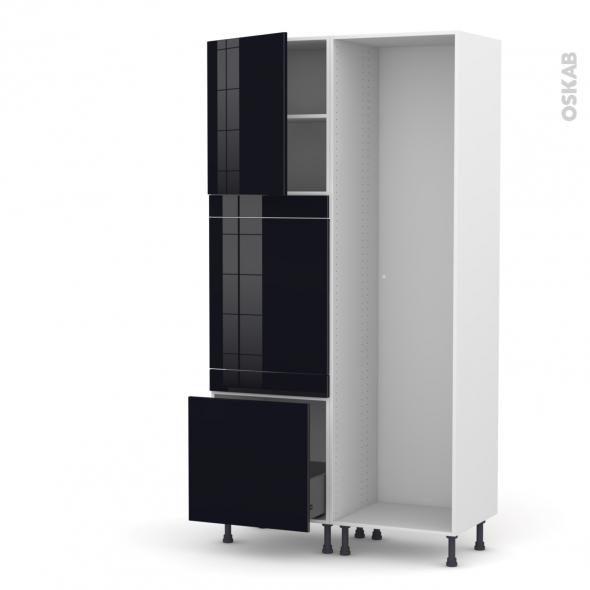 KERIA Noir - Colonne Lave vaisselle - Full Intégrable - L60xH217xP58