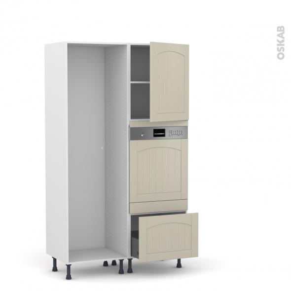 SILEN Argile - Colonne Lave vaisselle - Intégrable - L60xH195xP58 - droite
