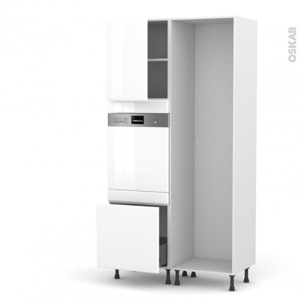 IRIS Blanc - Colonne Lave vaisselle - Intégrable - L60xH217xP58