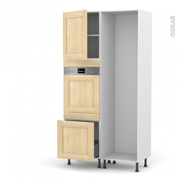 BETULA Bouleau - Colonne Lave vaisselle - Intégrable - L60xH217xP58