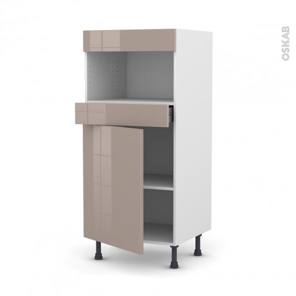 KERIA Moka - Colonne MO niche 36/38 N°21  - 1 porte 1 tiroir - L60xH125xP58