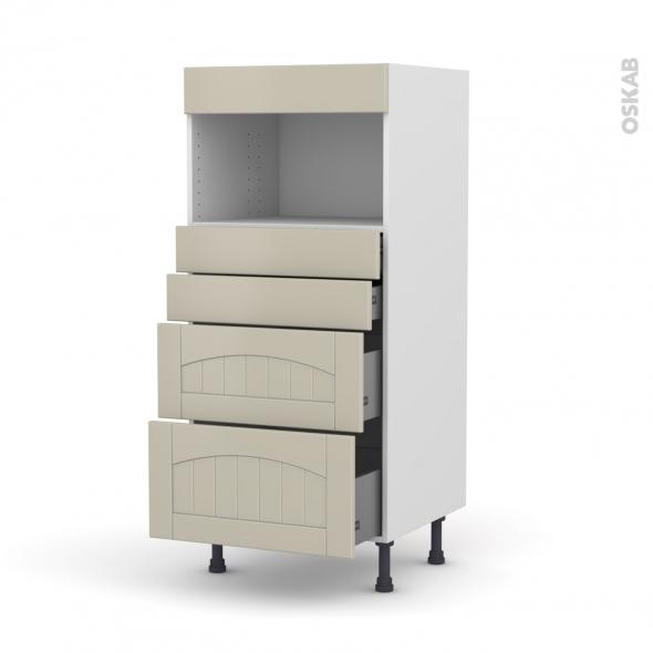 SILEN Argile - Colonne MO niche 36/38 N°58  - 4 tiroirs - L60xH125xP58
