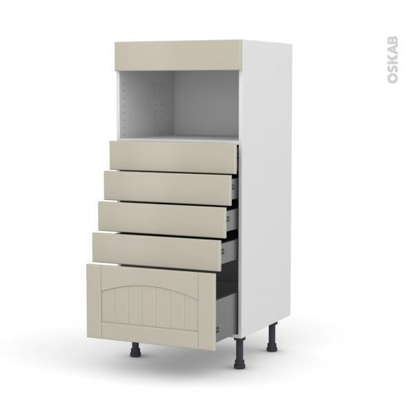 SILEN Argile - Colonne MO niche 36/38 N°59  - 5 tiroirs - L60xH125xP58