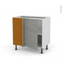 Meuble de cuisine - Angle bas - FAKTO Béton - 1 porte N°19 L40 cm - L80 x H70 x P58 cm