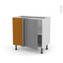 Meuble de cuisine - Angle bas - FILIPEN Gris - 1 porte N°19 L40 cm - L80 x H70 x P58 cm