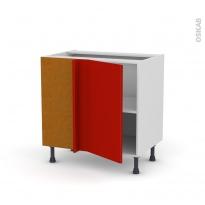 GINKO Rouge - Meuble angle bas  - 1 porte N°19 L40 - L80xH70xP58