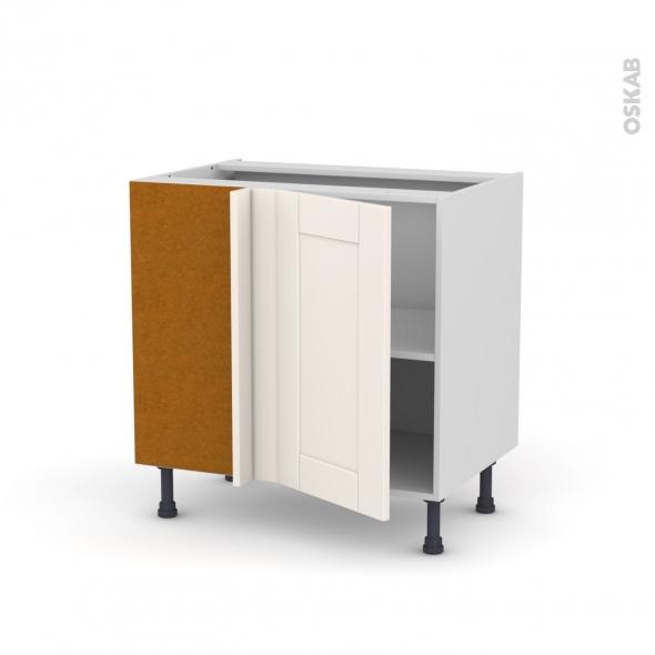 Meuble de cuisine - Angle bas - FILIPEN Ivoire - 1 porte N°19 L40 cm - L80 x H70 x P58 cm