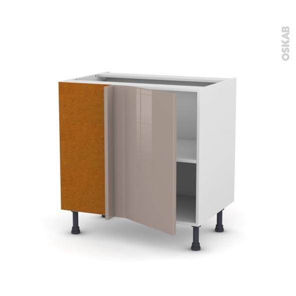 Meuble de cuisine - Angle bas - KERIA Moka - 1 porte N°19 L40 cm - L80 x H70 x P58 cm