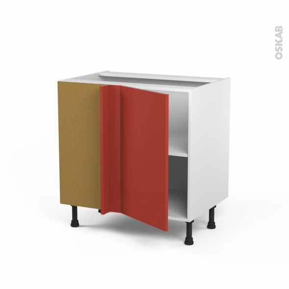 HELIO Rouge - Meuble angle bas  - 1 porte N°19 L40 - L80xH70xP58