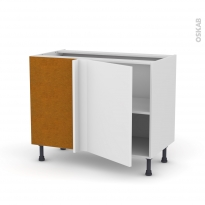 Meuble de cuisine - Angle bas réversible - GINKO Blanc - 1 porte N°20 L50 cm - L100 x H70 x P58 cm