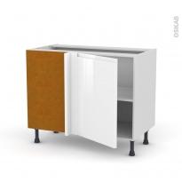 Meuble de cuisine - Angle bas - IPOMA Blanc - 1 porte N°20 L50 cm - L100 x H70 x P58 cm
