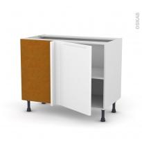 Meuble de cuisine - Angle bas réversible - PIMA Blanc - 1 porte N°20 L50 cm - L100 x H70 x P58 cm