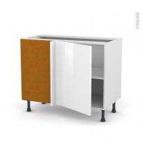 Meuble de cuisine - Angle bas - STECIA Blanc - 1 porte N°20 L50 cm - L100 x H70 x P58 cm