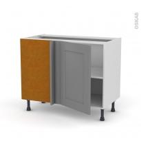 Meuble de cuisine - Angle bas - FILIPEN Gris - 1 porte N°20 L50 cm - L100 x H70 x P58 cm
