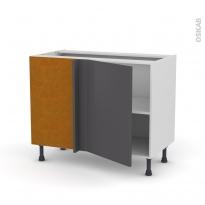 Meuble de cuisine - Angle bas - GINKO Gris - 1 porte N°20 L50 cm - L100 x H70 x P58 cm