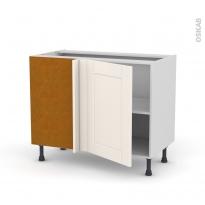 Meuble de cuisine - Angle bas - FILIPEN Ivoire - 1 porte N°20 L50 cm - L100 x H70 x P58 cm