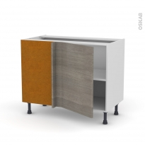 Meuble de cuisine - Angle bas - STILO Noyer Naturel - 1 porte N°20 L50 cm - L100 x H70 x P58 cm