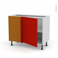 GINKO Rouge - Meuble angle bas  - 1 porte N°20 L50 - L100xH70xP58