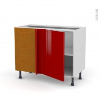 Meuble de cuisine - Angle bas - STECIA Rouge - 1 porte N°20 L50 cm - L100 x H70 x P58 cm