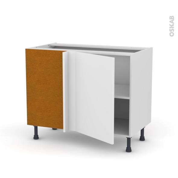 Meuble de cuisine - Angle bas - GINKO Blanc - 1 porte N°20 L50 cm - L100 x H70 x P58 cm