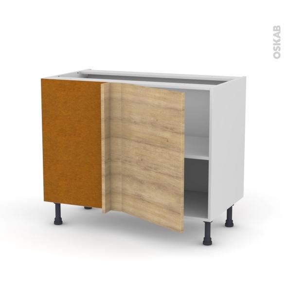 HOSTA Chêne naturel - Meuble angle bas - 1 porte N°20 L50 - L100xH70xP58