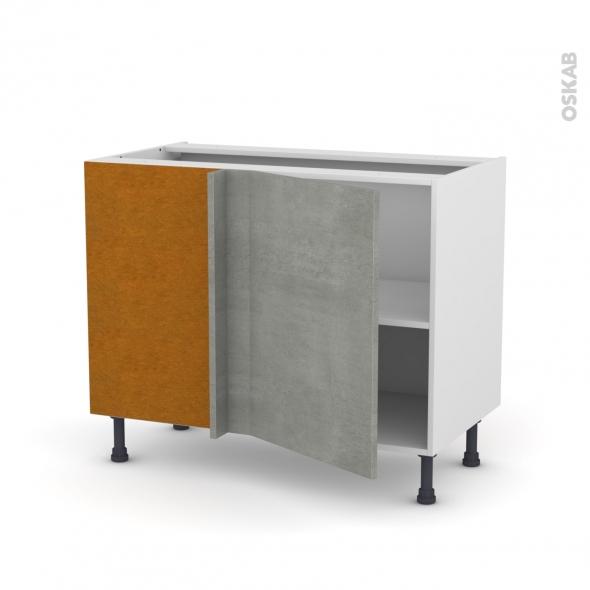 Meuble de cuisine - Angle bas - FAKTO Béton - 1 porte N°20 L50 cm - L100 x H70 x P58 cm
