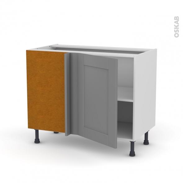 Meuble de cuisine - Angle bas réversible - FILIPEN Gris - 1 porte N°20 L50 cm - L100 x H70 x P58 cm