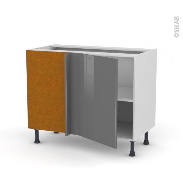 Meuble de cuisine - Angle bas - STECIA Gris - 1 porte N°20 L50 cm - L100 x H70 x P58 cm