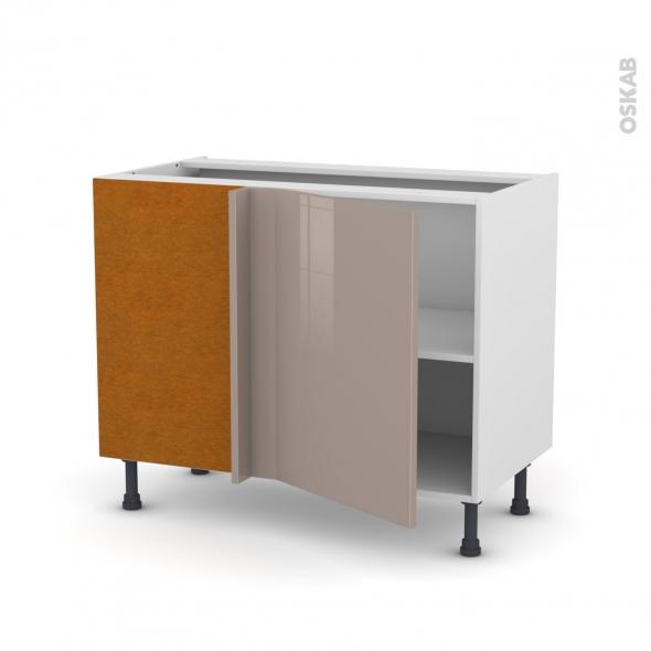 Meuble de cuisine - Angle bas - KERIA Moka - 1 porte N°20 L50 cm - L100 x H70 x P58 cm