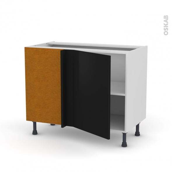 Meuble de cuisine - Angle bas - GINKO Noir - 1 porte N°20 L50 cm - L100 x H70 x P58 cm
