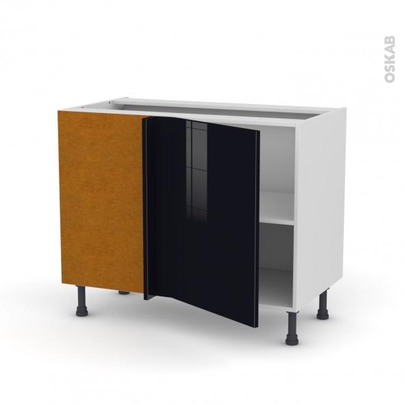 KERIA Noir - Meuble angle bas  - 1 porte N°20 L50 - L100xH70xP58