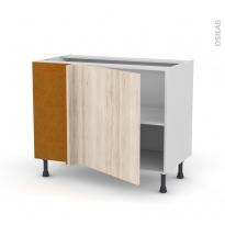 IKORO Chêne clair - Meuble angle bas  - 1 porte N°21 L60 - L100xH70xP58