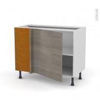 Meuble de cuisine - Angle bas - STILO Noyer Naturel - 1 porte N°21 L60 cm - L100 x H70 x P58 cm