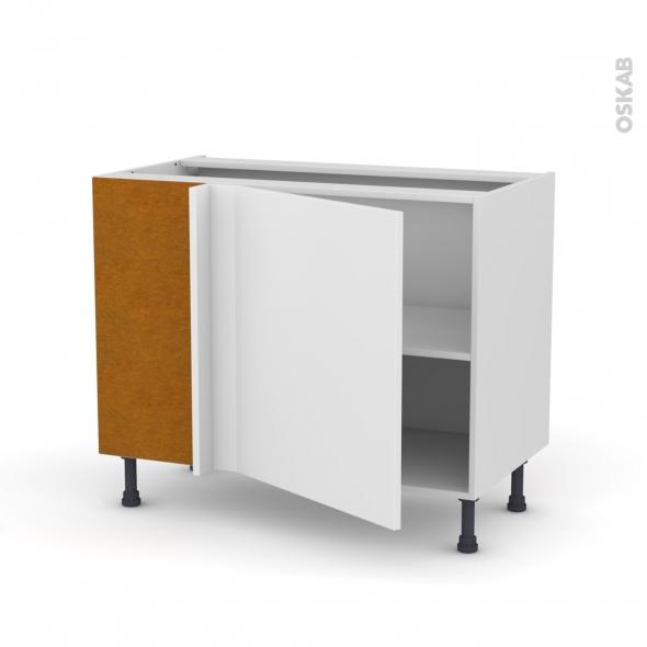 GINKO Blanc - Meuble angle bas  - 1 porte N°21 L60 - L100xH70xP58