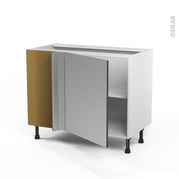 STILO Inox - Meuble angle bas  - 1 porte N°21 L60 - L100xH70xP58