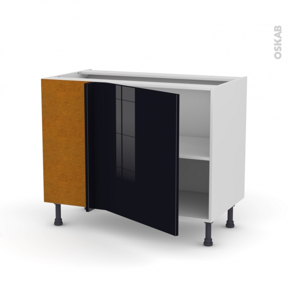 KERIA Noir - Meuble angle bas  - 1 porte N°21 L60 - L100xH70xP58