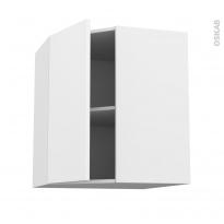 Meuble de cuisine - Angle haut - GINKO Blanc - 1 porte N°19 L40 cm - L65 x H70 x P37 cm