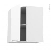 Meuble de cuisine - Angle haut - PIMA Blanc - 1 porte N°85 L40 cm - L65 x H70 x P37 cm