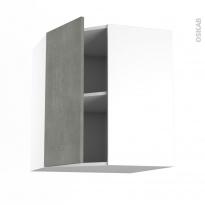 Meuble de cuisine - Angle haut - FAKTO Béton - 1 porte N°19 L40 cm - L65 x H70 x P37 cm