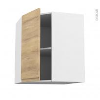 Meuble de cuisine - Angle haut - IPOMA Chêne naturel - 1 porte N°85 L40 cm - L65 x H70 x P37 cm