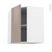 Meuble de cuisine - Angle haut - KERIA Moka - 1 porte N°19 L40 cm - L65 x H70 x P37 cm