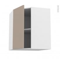 Meuble de cuisine - Angle haut - GINKO Taupe - 1 porte N°19 L40 cm - L65 x H70 x P37 cm